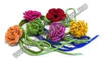 Цветок на шнурке Войлок, 100% шерсть, ручное валяние цена одной штуки...